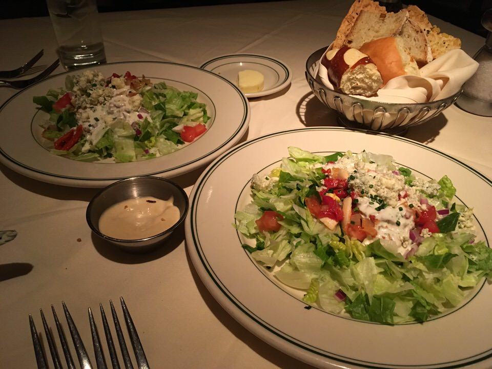 Chopped Lettuce, Tomato, Onion & Blue Cheese $13.95