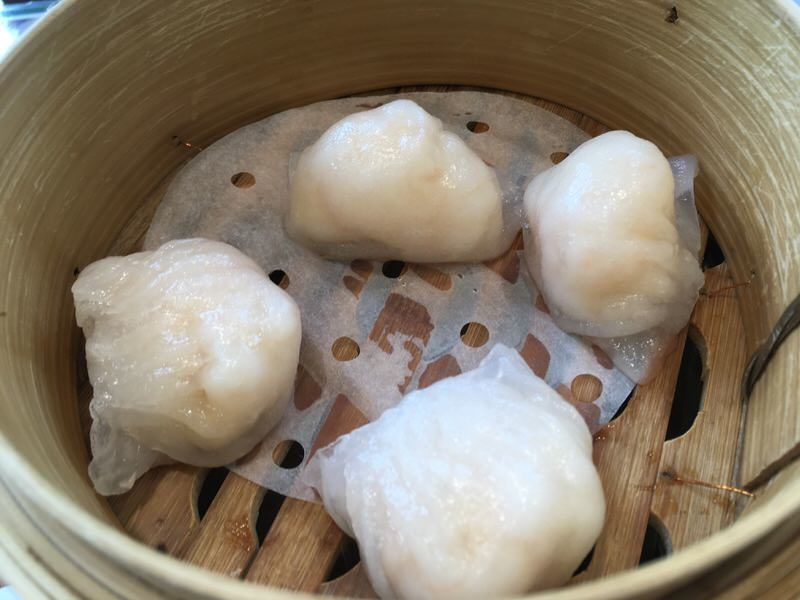 STEAMED SHRIMP DUMPLINGS (HAR GOW) 晶瑩鮮蝦餃 5.25ドル