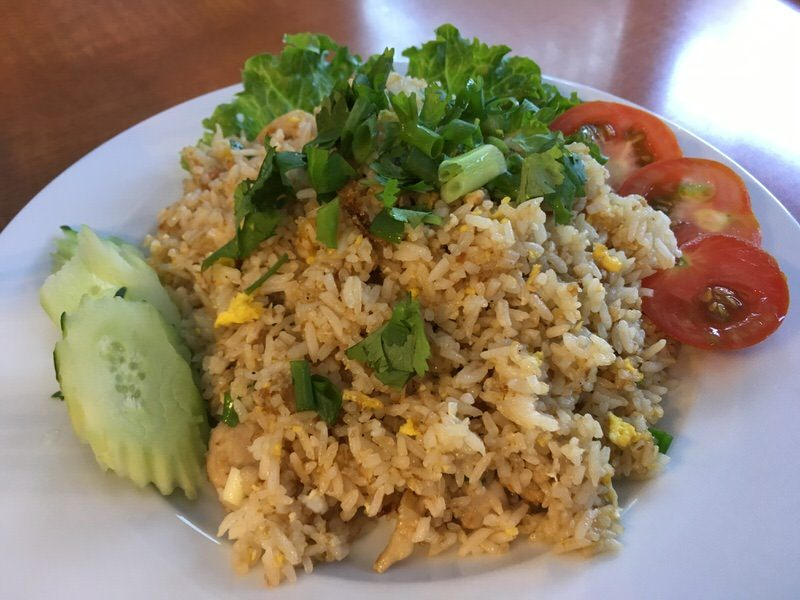 44. Fried Rice with Chicken 12.95ドル